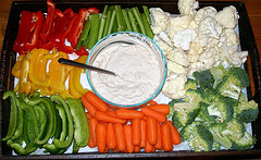 Superbowl Veggie Platter by Alexandria Perone