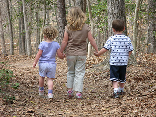 Children Walking on Trail by vastateparksstaff