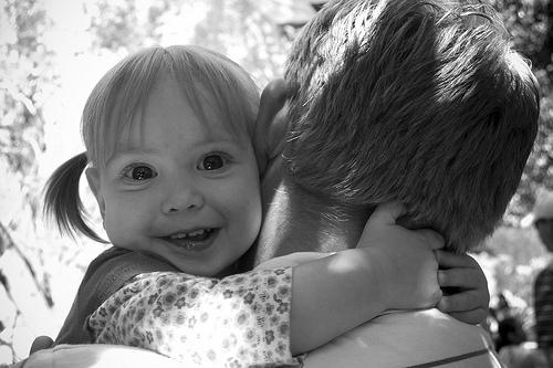 Hugging Daddy by Christina Ellis
