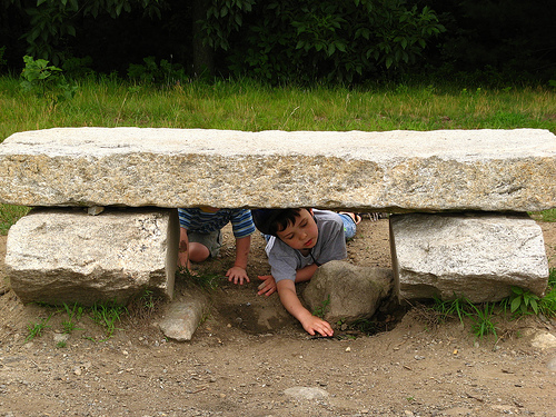 1817 boys under stone bench by WoofBC via flickr